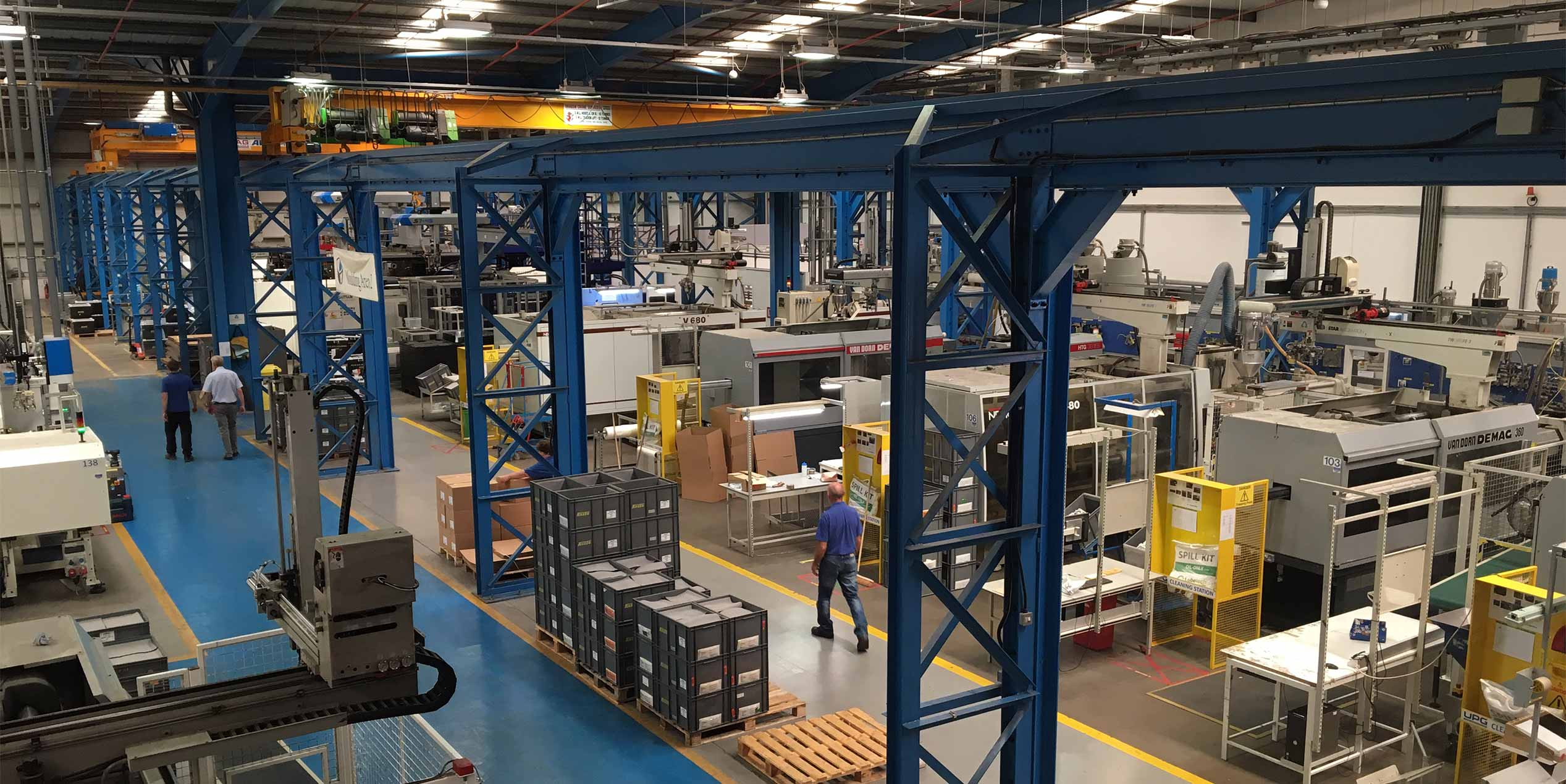 Large injection molding manufacturing facility