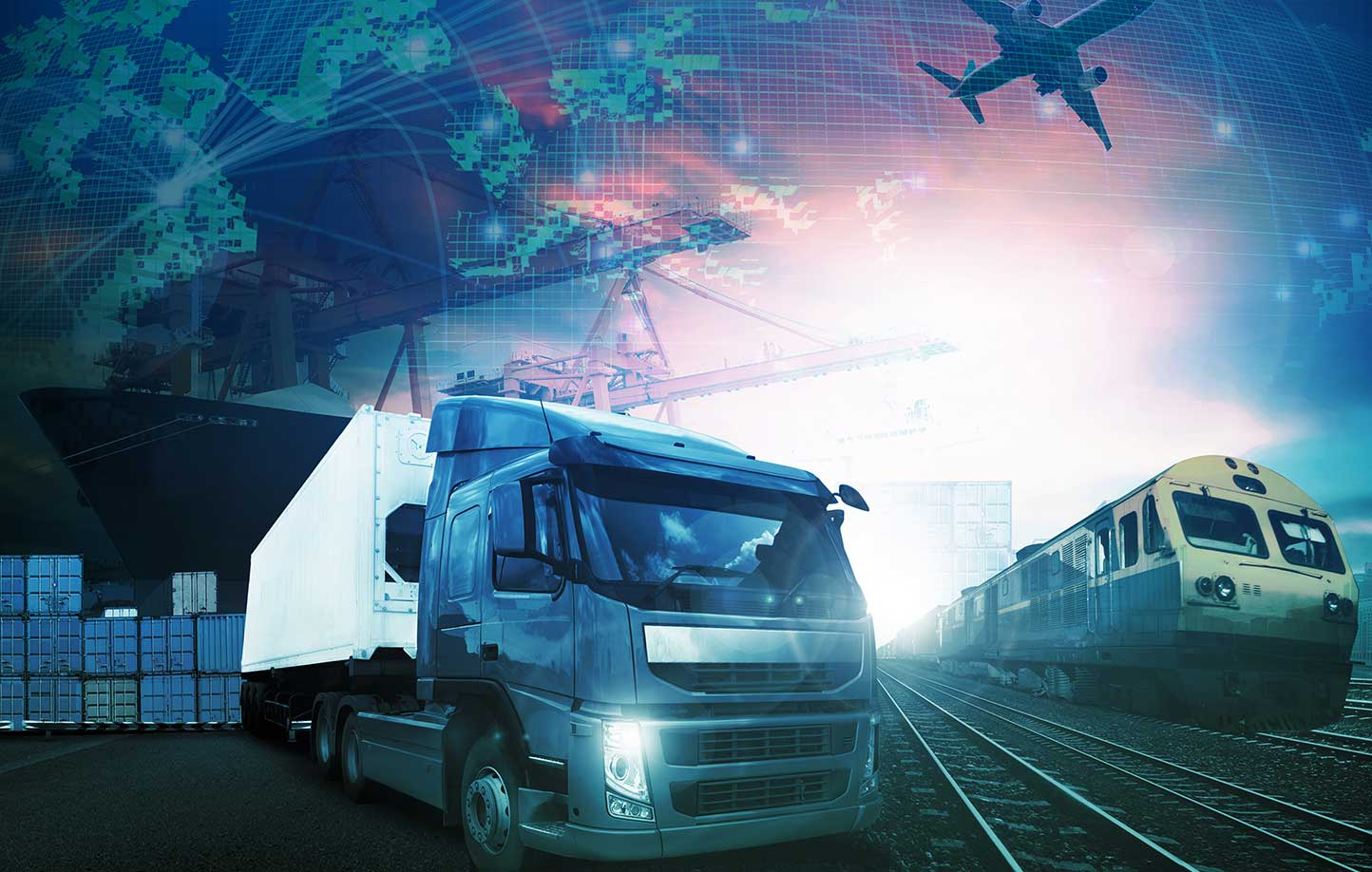 Plane, train, truck or ship supply chain